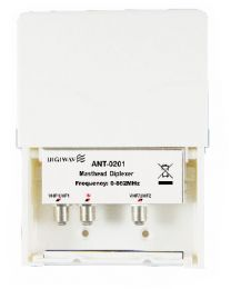 High Quality 2 in 1 out  Diplexer for OffAir Antenna 0-862MHZ