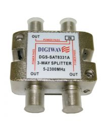 Digiwave 3 Way Splitter for 5 to 2400Mhz