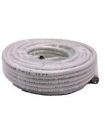 Digiwave 50-Ft RG6 Coaxial Cable with F connector-60% Braid(White)